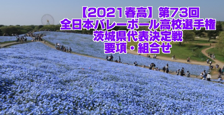茨城 2021春高バレー県予選|第73回全日本バレーボール高校選手権大会 要項・組合せ