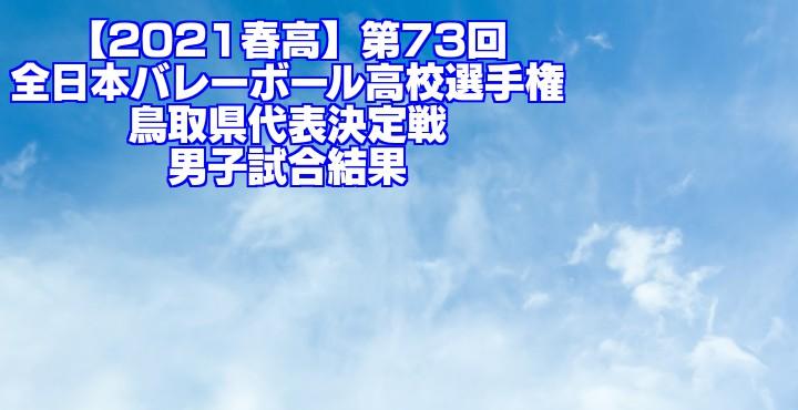 鳥取 2021春高バレー県予選|第73回全日本バレーボール高校選手権大会 男子試合結果