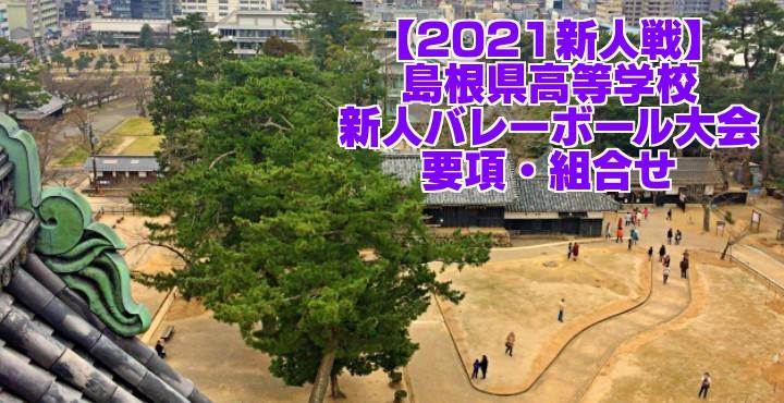 島根 2021新人戦|令和2年度高校新人バレーボール大会 要項・組合せ