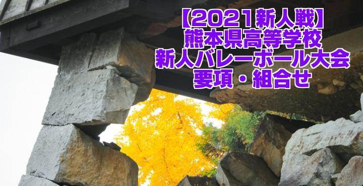 熊本 2021新人戦|令和2年度高校新人バレーボール大会 要項・組合せ