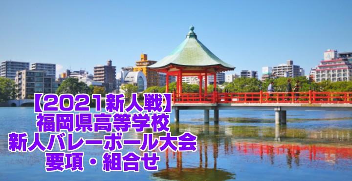 福岡 2021新人戦|令和2年度高校新人バレーボール大会 要項・組合せ