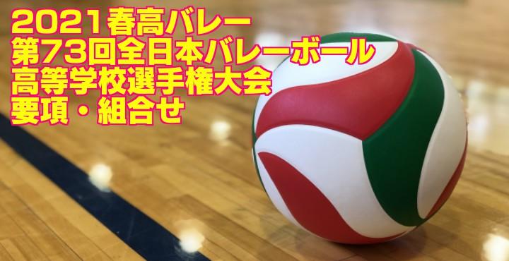 2021春高バレー|第73回全日本バレーボール高等学校選手権大会 要項・組合せ