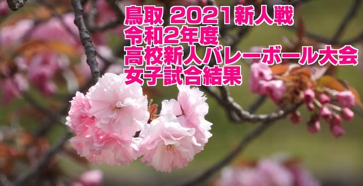 鳥取 2021新人戦|令和2年度高校新人バレーボール大会 女子試合結果
