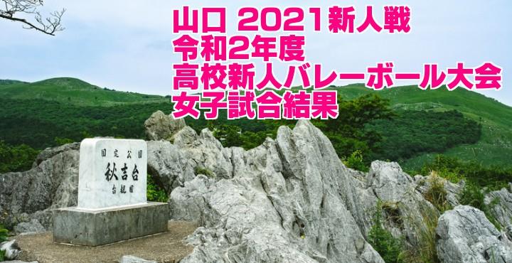 山口 2021新人戦 令和2年度高校新人バレーボール大会 女子試合結果