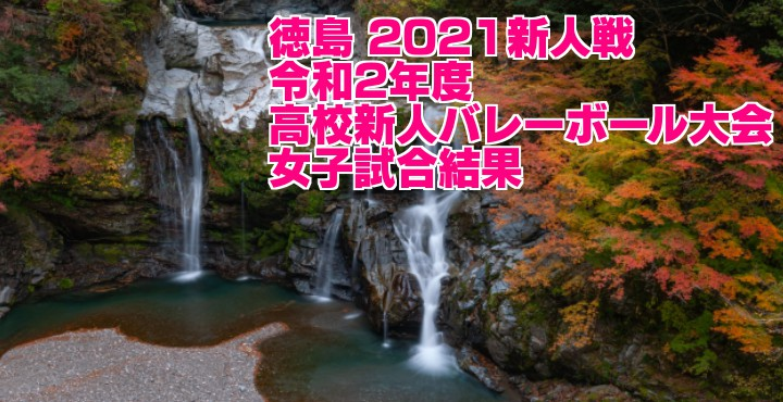徳島 2021新人戦|令和2年度高校新人バレーボール大会 女子試合結果