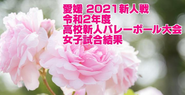愛媛 2021新人戦|令和2年度高校新人バレーボール大会 女子試合結果