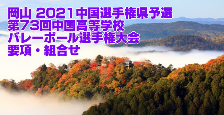 2021 中国選手権各県予選|第73回中国高等学校バレーボール選手権大会 要項・組合せ・結果