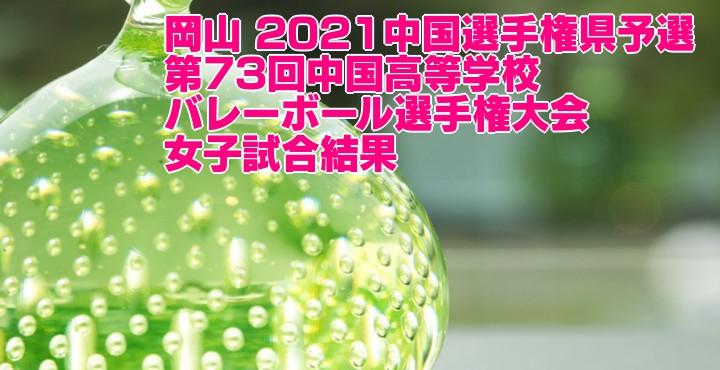 岡山 2021中国選手権県予選|第73回中国高等学校バレーボール選手権大会 女子試合結果