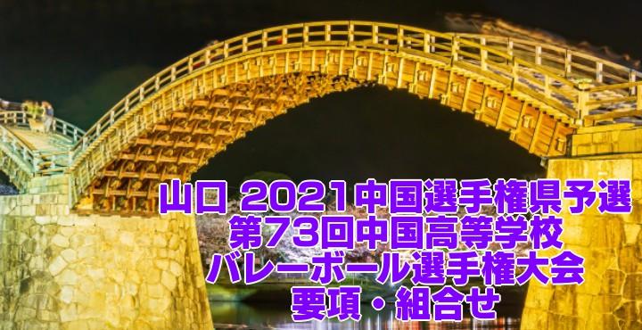 山口 2021中国選手権県予選 第73回中国高等学校バレーボール選手権大会 要項・組合せ