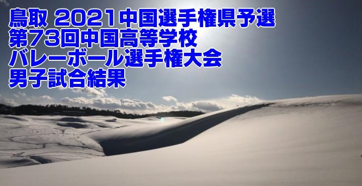 鳥取 2021中国選手権県予選|第73回中国高等学校バレーボール選手権大会 男子試合結果
