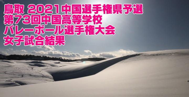 鳥取 2021中国選手権県予選|第73回中国高等学校バレーボール選手権大会 女子試合結果