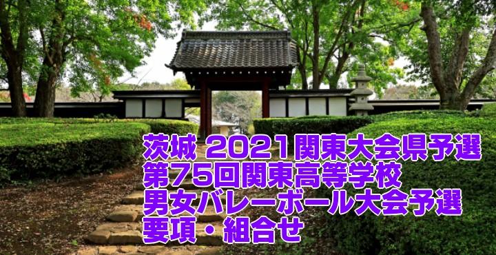 茨城 2021関東大会県予選|第75回関東高等学校男女バレーボール大会予選 要項・組合せ