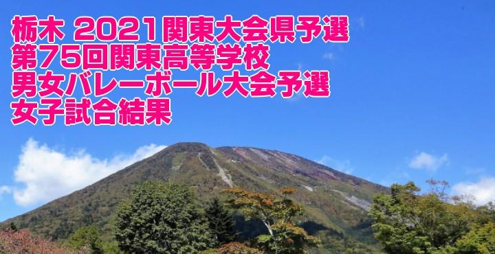 栃木 2021関東大会県予選 第75回関東高等学校男女バレーボール大会予選 女子試合結果