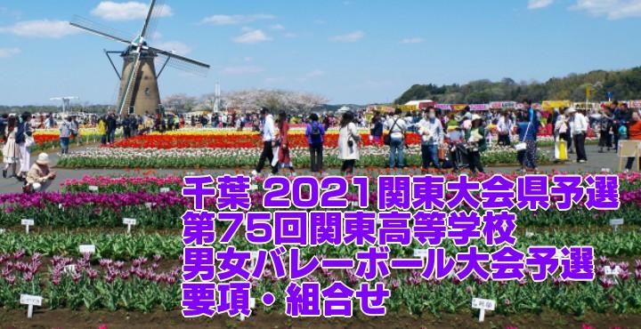 千葉 2021関東大会県予選|第75回関東高等学校男女バレーボール大会予選 要項・組合せ