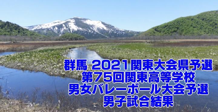 群馬 2021関東大会県予選|第75回関東高等学校男女バレーボール大会予選 男子試合結果