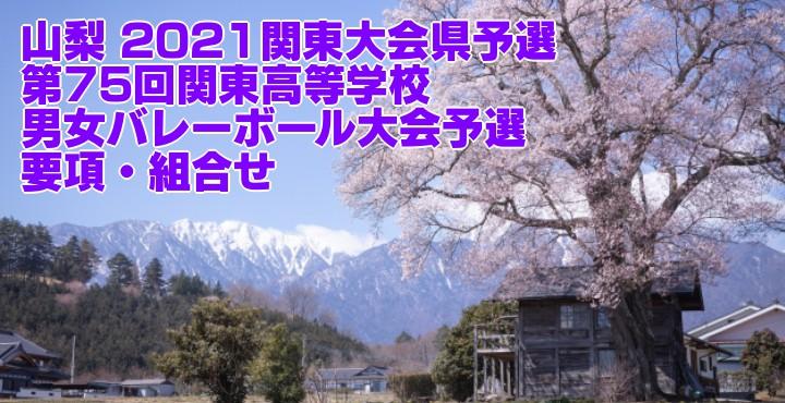 山梨 2021関東大会県予選|第75回関東高等学校男女バレーボール大会予選 要項・組合せ
