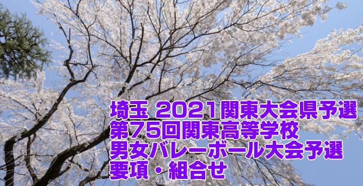 埼玉 2021関東大会県予選|第75回関東高等学校男女バレーボール大会予選 要項・組合せ