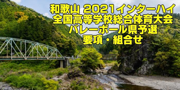 和歌山 2021インターハイ|全国高等学校総合体育大会 バレーボール県予選 要項・組合せ