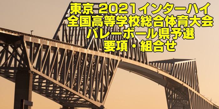 東京 2021インターハイ 全国高等学校総合体育大会 バレーボール県予選 要項・組合せ