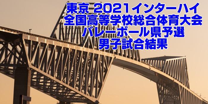 東京 2021インターハイ|全国高等学校総合体育大会 バレーボール県予選 男子試合結果