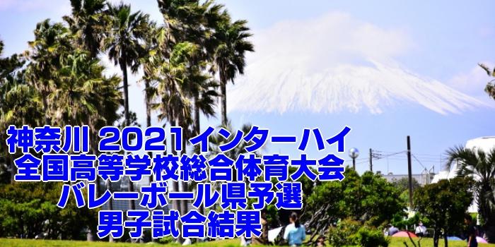 神奈川 2021インターハイ|全国高等学校総合体育大会 バレーボール県予選 男子試合結果