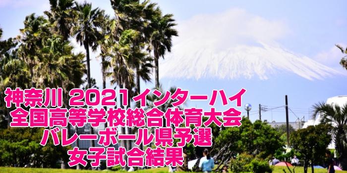 神奈川 2021インターハイ|全国高等学校総合体育大会 バレーボール県予選 女子試合結果