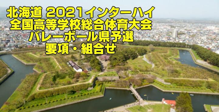 北海道 2021インターハイ|全国高等学校総合体育大会 バレーボール県予選 要項・組合せ