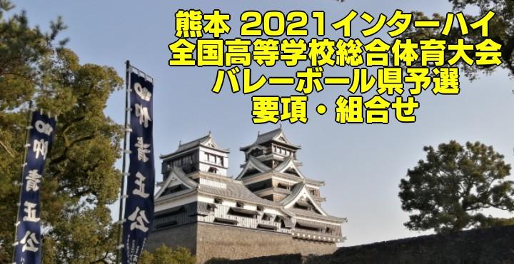 熊本 2021インターハイ|全国高等学校総合体育大会 バレーボール県予選 要項・組合せ