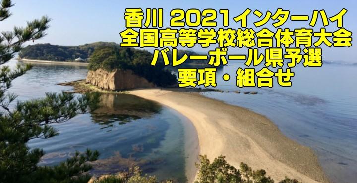 香川 2021インターハイ|全国高等学校総合体育大会 バレーボール県予選 要項・組合せ