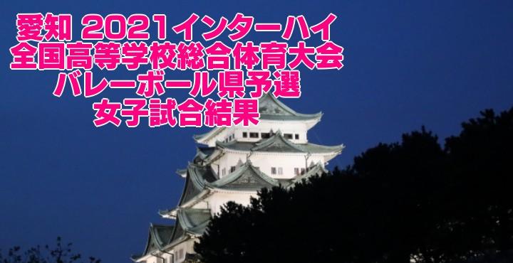 愛知 2021インターハイ|全国高等学校総合体育大会 バレーボール県予選 女子試合結果