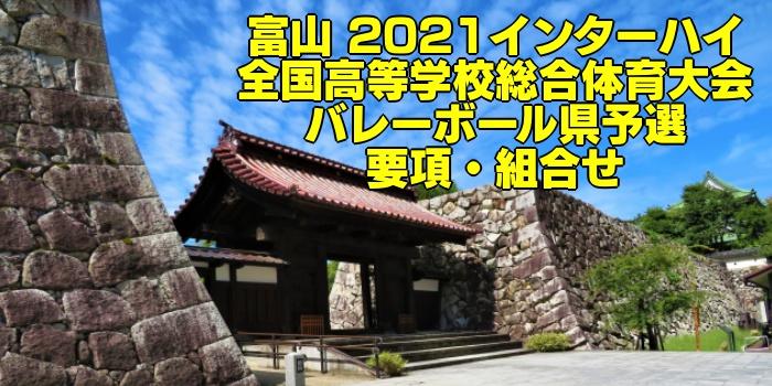 富山 2021インターハイ|全国高等学校総合体育大会 バレーボール県予選 要項・組合せ