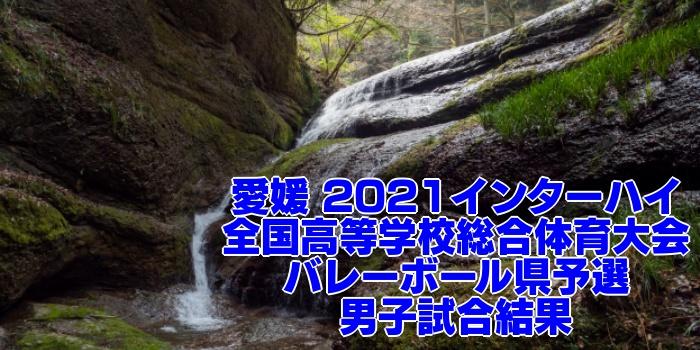 愛媛 2021インターハイ|全国高等学校総合体育大会 バレーボール県予選 男子試合結果