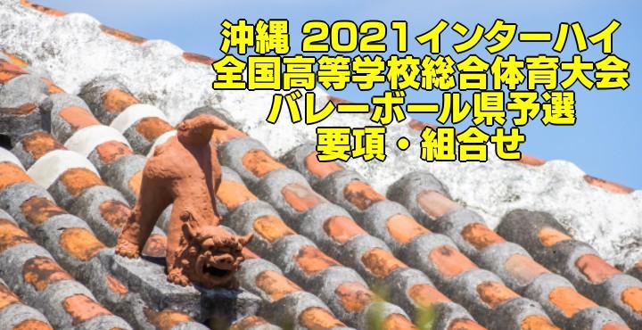 沖縄 2021インターハイ 全国高等学校総合体育大会 バレーボール県予選 要項・組合せ