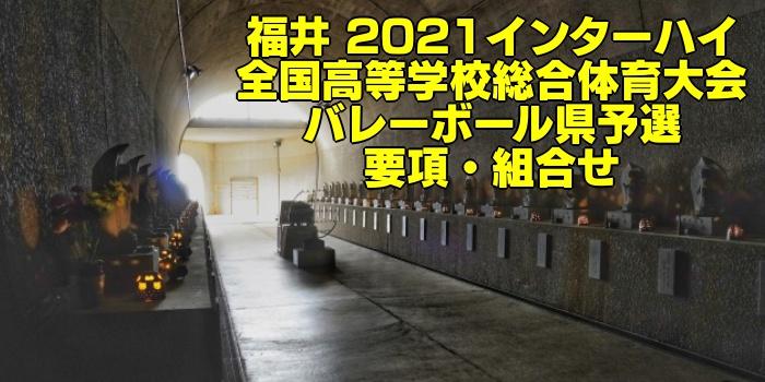 福井 2021インターハイ|全国高等学校総合体育大会 バレーボール県予選 要項・組合せ