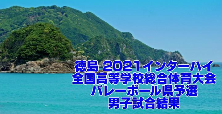 徳島 2021インターハイ 全国高等学校総合体育大会 バレーボール県予選 男子試合結果