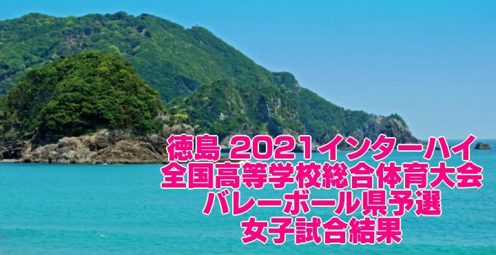 徳島 2021インターハイ 全国高等学校総合体育大会 バレーボール県予選 女子試合結果