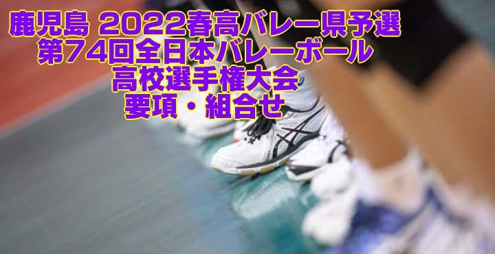鹿児島 2022春高バレー県予選 第74回全日本バレーボール高校選手権大会 要項・組合せ